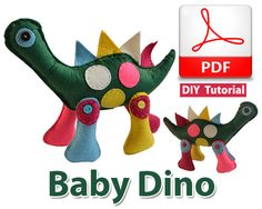 Baby Dino PDF Tutorial INSTANT DOWNLOAD by vitbich on Etsy