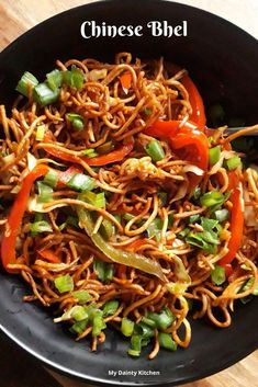 Chinese bhel is one of the popular street food of Mumbai. This is crispy and spicy. Chinese bhel is an Indo-Chinese snack and a fusion food. Vegetarian Chinese Recipes, Indo Chinese Recipes, Indian Food Recipes, Asian Recipes, Ethnic Recipes, Indian Snacks, Crispy Noodles, Chinese Street Food, Vegetarian Recipes