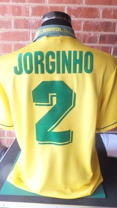 Jorginho #2 Brazil World Cup 1994 Home Football Shirt XL adult  (8560)