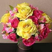 Pink and Yellow centerpiece