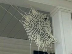 Crochet a spider web this halloween!