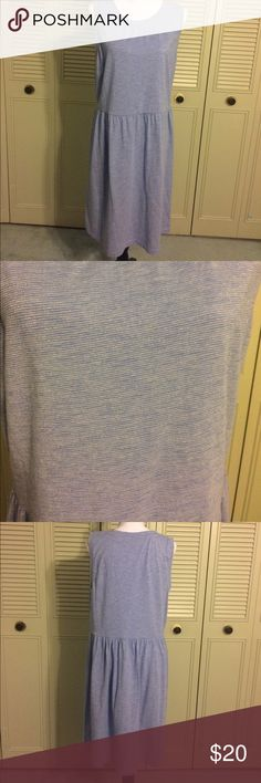 Pale Blue Shimmer Dress 👗 Gorgeous LOFT dress that is super comfortable but dressy enough to be paired with heels for an evening event. Fit and flare dress, very stretchy. Great condition!  Lots of sparkle! LOFT Dresses Midi