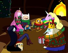 Holly Jolly Adventure Time. :) Happy Holidays from the Land of Ooo!