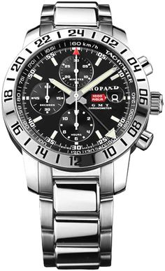 CHOPARD MILLE MIGLIA GMT MENS WATCH WITH STAINLESS LINK BAND