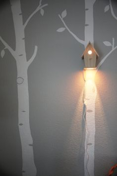 This bird light on the wall looks simple yet beautiful and I would love to have one of this in my bedroom wall.