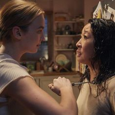 """'Killing Eve' renewed by BBC America ahead of Season 1 premiere. BBC America has renewed its Sandra Oh-Jodie Comer thriller """"Killing Eve"""" for a second season before the first season premieres on the cable network Sunday. La Dispute, Best Series, Best Tv Shows, Parks, Phoebe Waller Bridge, Tv Series To Watch, Series Movies, Sandra Oh, Ted Bundy"""