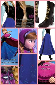 Detailing for the Anna costume