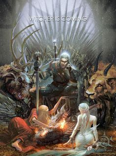 Witcher is coming. Game of Throne + The witcher. The Witcher Game, The Witcher Geralt, Witcher Art, Medieval Fantasy, Dark Fantasy, Witcher Wallpaper, Arte Game Of Thrones, Music Rock, Fantasy Kunst