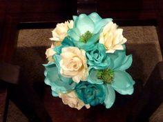 Flowers, Reception, White, Ceremony, Wedding, Blue, Bridesmaids, Bridal, Centerpieces, Bouquets, Teal, Turquoise, Silk, Savannah event decor