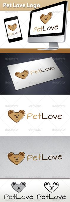 Pet Love Logo #GraphicRiver - Perfect logo for music record label, artist, creative studio, app developers, geek community, video game forum, kids brand, clothing brand, mobile business, computer shop, space community, funny websites, ovni believer and more… - Three color version: Color, greyscale and single color. - The logo is 100% resizable. - You can change text and colors very easy using the named and organized layers that includes the file. - The typography used is Architects Daughter…