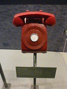 "June 20, 1963: Following the Cuban Missile Crisis the ""red telephone"" is installed in the White House and has a direct connection to the Kremlin in the Soviet Union."