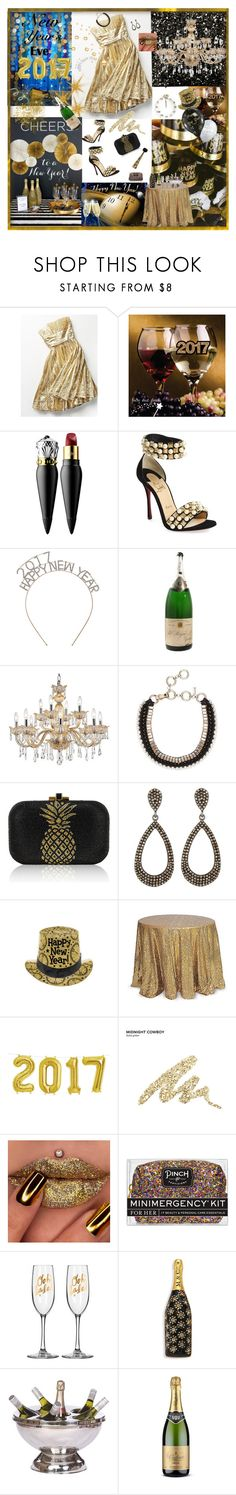 """""""Happy New Year 🎉🍾🎊"""" by deborah-518 ❤ liked on Polyvore featuring Free People, Christian Louboutin, Universal Lighting and Decor, Judith Leiber, Bavna, Rösle, Urban Decay, Pinch Provisions and Marc Jacobs"""