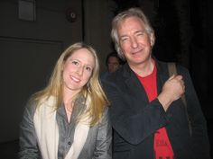 """2006 - Alan Rickman - during the run of """"My Name is Rachel Corrie."""" I don't know who the lady is."""