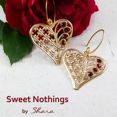 Perfect wear jewelry for Valentine and every ocacssion when love is around the corner. Wear these 'charming hearts' and look very special with your Mr. Right.    Guys, express your feelings to that special someone with these earrings.