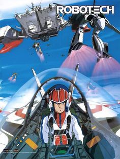 """Dark Horizons reports that Spider-Man himself, Tobey Maguire is producing """"Robotech"""" for Warner Bros. Warner hopes that Robotech will, of course, become a Mecha Anime, Macross Anime, Sci Fi Anime, L Anime, Anime Art, Robotech Macross, 80 Tv Shows, Animation, 80 Cartoons"""