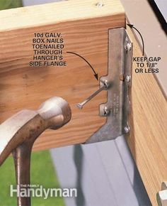 How To Install Joist Hangers Joist Hangers Building A Deck Diy