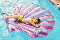 i want an inground pool and random cool floats like this