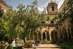 Sorrento wedding ceremony at the Saint Francis Cloisters