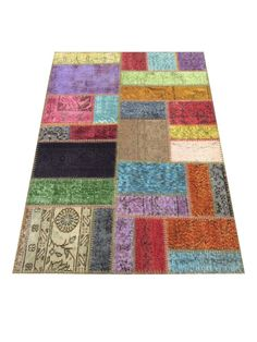 Item: Multi Overdyed Small Patchwork Rug  Color: Multi  Dimensions: 3 x4  Materials: 100% Wool Vintage Over dyed Rug    **Specialty  This rug is
