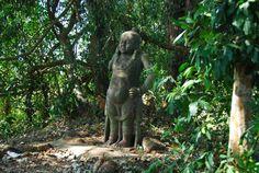 Yaksha (nature/tree deity) deity at sacred grove, India