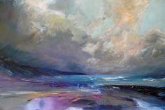 'Tender tempest' www.sjbart.com  #painting by #artist #SarahJaneBrown #love #art #wales #sea #seascape #landscape #beach #clouds #sky #Pembrokeshire #Artoftheday #oiloncanvas 60x90cm