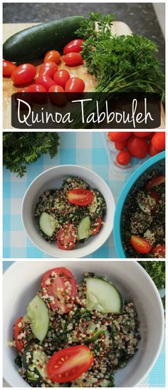 This quinoa tabbouleh is vegan & gluten free! It's so easy to make! Stuff it in a pita, top it with feta, or eat it with a spoon!