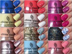 China Glaze Spring 2016 House of Colour Collection Swatches