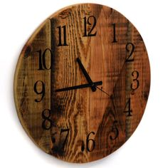 New to TheRusticPalette on Etsy: Reclaimed Barn Wood Clock Large Round Barn Wood Wall Clock Rustic Clocks Wall Decor USD) Large Rustic Wall Clock, Unique Wall Clocks, Wood Clocks, Large Clock, Rustic Clocks, Rustic Wood Decor, Rustic Wood Walls, Rustic Furniture, Reclaimed Wood Shelves
