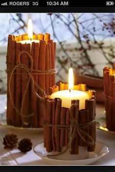 instead of scented candles perhaps... need to find somewhere to buy cinnamon in bulk