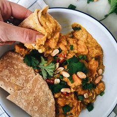 Sweet potato, peanut and red lentil curry 5