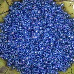 Size 8/0 Miyuki Amethyst Lined Light Blue Seed Bead - 21 Grams - 1284 - Miyuki Color 1827