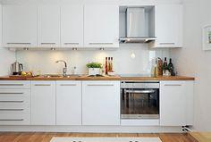 cozinha planejada branca e madeira - Pesquisa Google