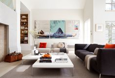 Contemporary weekend retreat in Napa Valley.  I love this painting!