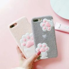 £1.99 GBP - For Iphone X 6/6S/7/8 Plus Cute Plush Cat Claw Winter Warm Soft Phone Case Cover #ebay #Electronics