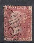 Antique Victorian era (Queen Victoria) Penny Red Uk British Stamp Plate 138 - ANTIQUE, BRITISH, PENNY, plate, QUEEN, Stamp, Victoria, Victorian