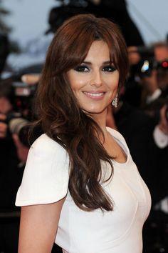 Singer Cheryl Cole dark copper hair