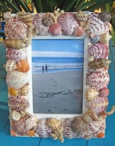 diy seashell frame - now I have a project for those shells i collected so many years ago!