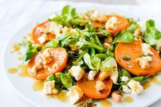 Sałatka z pieczonym batatem i orzechami nerkowca Caprese Salad, Salads, Food, Essen, Meals, Yemek, Salad, Insalata Caprese, Eten