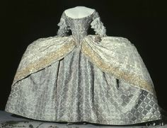 Court dress of Louisa Ulrika of Sweden ca. 1751 From the Royal Armory and Hallwyl Museum kröningsklänning court dress 1751