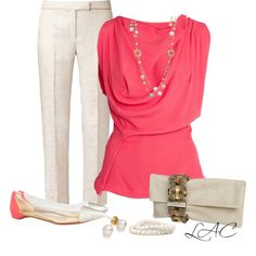 """I love this outfit!  It is so classy and I love the colors!   """"Untitled #265"""" by love-lac on Polyvore"""