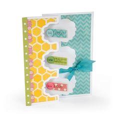 Sizzix Framelits Die Set 9PK - Card, Triple Fancy Frame Flip-its