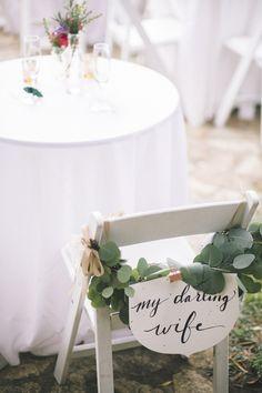 chair Back Decor | House Party Wedding At Big Sur California | Matt & Esther Photography