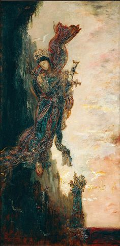 Sappho Falling by Gustave Moreau