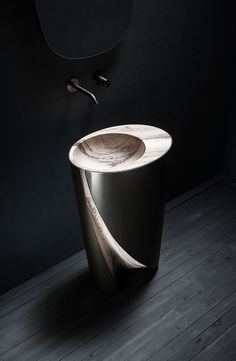 Swirl is a sculptural piece that takes inspiration from the natural path of water as it gently overflows and through time forges an eroded channel. Sink Design, Bath Design, Architecture Photo, Amazing Architecture, Cuba, Design Inspiration, Sculpture, Interior Design, Cool Stuff