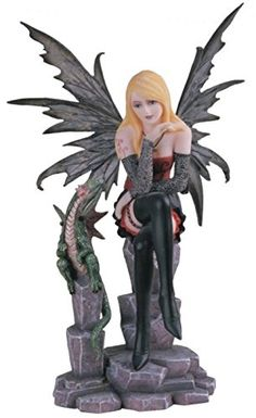 StealStreet SS-G-91373 Fairy Collection Pixie with Baby Dragon Fantasy Figurine Decoration >> Remarkable product available now. : Christmas Decorations