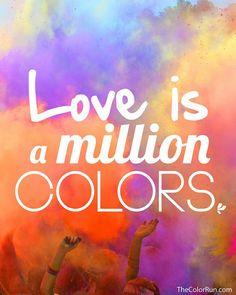 color run #Colorfuldash on Cal State San Bernardino