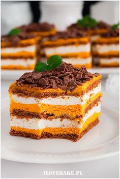 Sweet Desserts, No Bake Desserts, Easy Cake Recipes, Cookie Recipes, Food Carving, Sweets Cake, Just Cakes, Polish Recipes, Desert Recipes