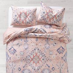 Dusty Rose Chloe Medallion Duvet Cover and Sham Set - Full/Queen Cheap Bedding Sets, Cheap Bed Sheets, Best Bedding Sets, Queen Bedding Sets, Luxury Bedding Sets, Modern Bedding, Comforter Sets, Unique Bedding, King Comforter