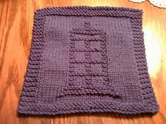 Doctor Who TARDIS Dishcloth - Free Pattern