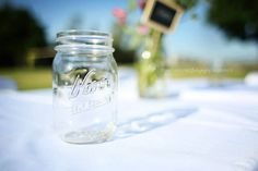 We used Kerr jars for the drinks and to decorate the tables.